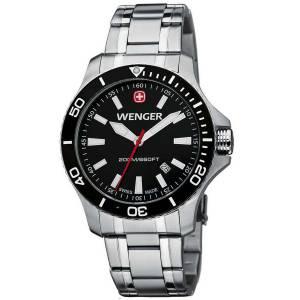 [ウェンガー]Wenger 腕時計 Sea Force Watch, Black Dial Black Bezel Bracelet 0641105 [並行輸入品]