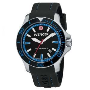 [ウェンガー]Wenger 腕時計 Sea Force Swiss Watch w/ Black & Blue 0641104 メンズ [並行輸入品]