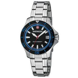 [ウェンガー]Wenger 腕時計 Sea Force Swiss Watch w/ Black & Blue Dial Black 0621104 [並行輸入品]