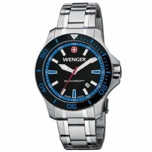 [ウェンガー]Wenger 腕時計 Sea Force Watch, Black & Blue Dial 641.106 [並行輸入品]