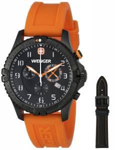 [ウェンガー]Wenger 腕時計 Black Stainless Steel Watch Set with Two Interchangeable Bands 60758 メンズ [並行輸入品]