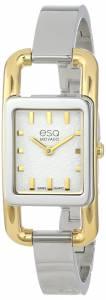 [イーエスキューモバード]ESQ Movado 腕時計 esq Angle tm TwoTone Rectangular Signature Watch 7101399 レディース [並行輸入品]