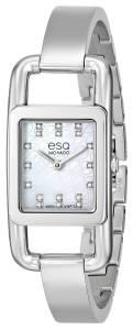 [イーエスキューモバード]ESQ Movado 腕時計 esq Angle DiamondAccented Stainless Steel Watch 7101406 レディース [並行輸入品]