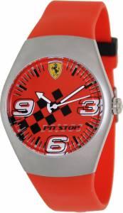 [フェラーリ]Ferrari 腕時計 Red Rubber Analog Quartz Watch with Red Dial FW01 メンズ [並行輸入品]