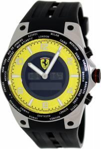 [フェラーリ]Ferrari 腕時計 45mm Black Rubber Swiss Made Watch FE-05-ACC-YW メンズ [並行輸入品]