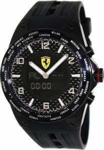 [フェラーリ]Ferrari 腕時計 World Time Swiss Made Black Dial Analog Digital Watch FE-05-IPB-FC メンズ [並行輸入品]