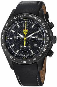 [フェラーリ]Ferrari 腕時計 Black PVD Chronograph Swiss Quartz Watch FE07IPGUNCPFC メンズ [並行輸入品]