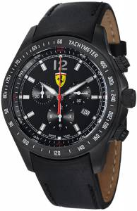 [フェラーリ]Ferrari 腕時計 Scuderia Chrono Swiss Made Black PVD Watch FE07IPBCPBK メンズ [並行輸入品]
