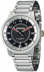 [フェラーリ]Ferrari  Carbon Fiber Dial Stainless Steel Automatic Swiss Made Watch FE12ACCCMBK