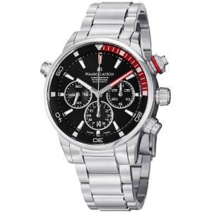 [モーリス ラクロア]Maurice Lacroix 腕時計 Pontos Black Chronograph Dial Watch PT6018-SS002330 メンズ [並行輸入品]