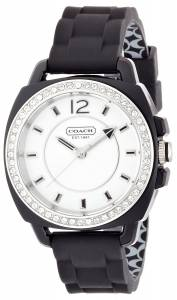 [コーチ]Coach 腕時計 Boyfriend Silicon Rubber Strap Watch 14501475 W1024 BLK WMN [並行輸入品]