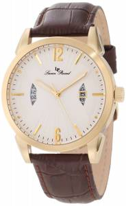 [ルシアン ピカール]Lucien Piccard Watzmann White Textured Dial Brown Leather 11561-YG-02