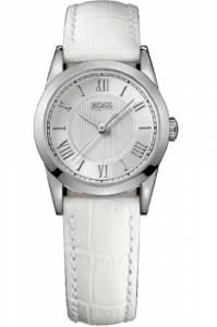 [ヒューゴボス]HUGO BOSS 腕時計 Hugo Boss Silver Dial White Leather Watch 1502305 [並行輸入品]