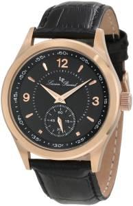 [ルシアン ピカール]Lucien Piccard 腕時計 Grande Casse Black Dial Black Leather Watch 11606-RG-01 メンズ [並行輸入品]