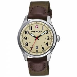 [ウェンガー]Wenger 腕時計 Terragraph Watch, Sand Dial Olive Nylon Strap 0541.108 [並行輸入品]