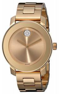 [モバード]Movado 腕時計 Bold Gold IonPlated Bracelet Watch with Swarovski Crystals 3600104 レディース [並行輸入品]