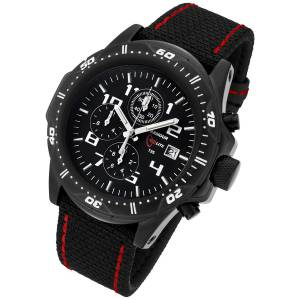 Armourlite Professional Series Black Chronograph Watch with Black Red Kevlar Band