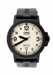 [オリス]Oris BC3 Advanced Automatic Steel & Black PVD Strap Watch Calendar 735-7641-4766-RS
