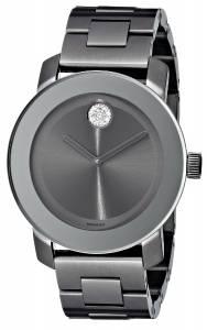 [モバード]Movado 腕時計 Bold GunmetalTone Bracelet Watch with Swarovski Crystals 3600103 レディース [並行輸入品]
