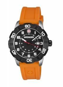[ウェンガー]Wenger 腕時計 Roadster Black Dial Orange Strap 851.106 [並行輸入品]