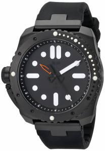 [ベスタル]Vestal 腕時計 Restrictor Diver 50 Black Stainless Steel and Silicone Watch RSD3S02 メンズ [並行輸入品]