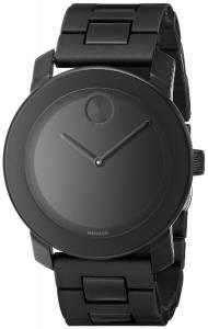 [モバード]Movado 腕時計 Bold Black Stainless Steel Bracelet Watch 3600047 メンズ [並行輸入品]