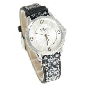 [コーチ]Coach 腕時計 Classic Signature Logo Leather Strap Watch 14501631 レディース [並行輸入品]
