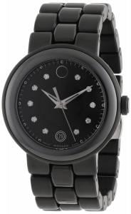 [モバード]Movado Cerena Black Ceramic Case and Stainless Steel Black PVD Bracelet Black 0606693