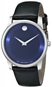 [モバード]Movado 腕時計 Museum Stainless Steel Watch with Black Leather Band 0606610 メンズ [並行輸入品]