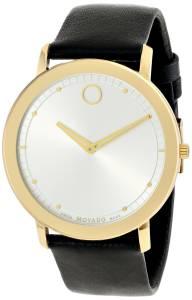 [モバード]Movado 腕時計 TC GoldPlated Stainless Steel Watch with Black Leather Band 0606695 メンズ [並行輸入品]