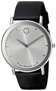 [モバード]Movado 腕時計 TC Stainless Steel Watch with Black Leather Band 0606694 メンズ [並行輸入品]