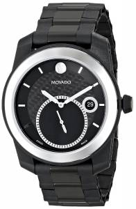 [モバード]Movado  Vizio Black Watch with Tungsten Carbide Bezel and PVDCoated Bracelet 0606614