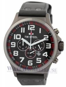 [ティーダブルスティール]TW Steel 腕時計 Chronograph Grey Dual Titanium PVD Watch TW423 Pilot メンズ [並行輸入品]