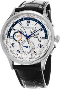 [モーリス ラクロア]Maurice Lacroix 腕時計 Masterpiece Worldtimer Silver Dial Bla MP6008-SS001-111 メンズ [並行輸入品]