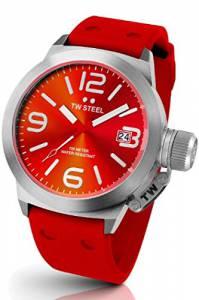 [ティーダブルスティール]TW Steel 腕時計 Canteen Red Dial Red Silicone Watch TW510 メンズ [並行輸入品]