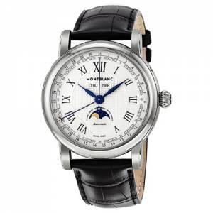 [モンブラン]Montblanc 腕時計 Automatic Moonphase Stainless Steel Watch 108736 メンズ [並行輸入品]