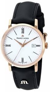 [モーリス ラクロア]Maurice Lacroix 腕時計 Eliros Watch with Black Leather Band EL1084-PVP01-110 レディース [並行輸入品]