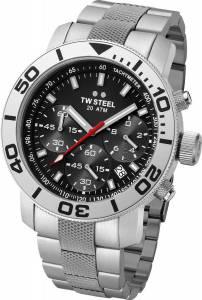[ティーダブルスティール]TW Steel 腕時計 Grandeur Diver Chronograph Silver Bracelet Watch TW706 [並行輸入品]
