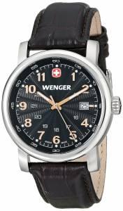 [ウェンガー]Wenger 腕時計 Analog Display Swiss Quartz Black Watch 1041.104 メンズ [並行輸入品]