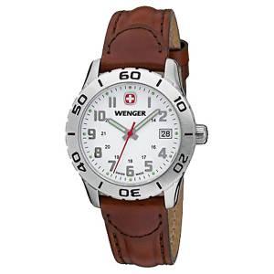 [ウェンガー]Wenger 腕時計 Grenadier White Dial, Brown Leather Strap 0 721.101 レディース [並行輸入品]
