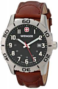 [ウェンガー]Wenger 腕時計 Analog Display Swiss Quartz Brown Watch 0741.103 メンズ [並行輸入品]