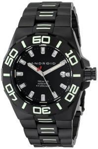 [アンドロイド]Android 腕時計 Bioluminescence Analog JapaneseAutomatic Silver Watch AD672BKK メンズ [並行輸入品]