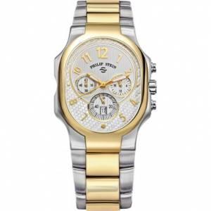 [フィリップ ステイン]Philip Stein 腕時計 White Two Tone Signature Chronograph Watch 23TG-NWG-SSTG [並行輸入品]