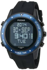 [パルサー]Pulsar 腕時計 On The Go Digital Display Japanese Quartz Black Watch PQ2021 メンズ [並行輸入品]