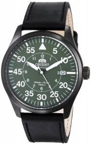 [オリエント]Orient 腕時計 Flight Black Stainless Steel Watch with Black Leather Band FER2A002F0 メンズ [並行輸入品]