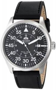 [オリエント]Orient 腕時計 Flight Stainless Steel Watch with Black Leather Band FER2A003B0 メンズ [並行輸入品]