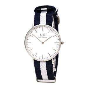 [ダニエル ウェリントン]Daniel Wellington Glasgow Blue Nylon Quartz Watch with White 0602DW