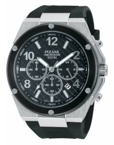 [パルサー]Pulsar 腕時計 PT3449 Chronograph Quartz Watch Black Dial Sport メンズ [並行輸入品]