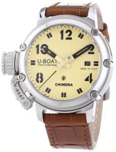 [ユーボート]U-Boat 腕時計 Chimera Automatic Beige Dial Brown Leather Watch 7227 [並行輸入品]