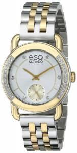 [イーエスキューモバード]ESQ Movado Classica Analog Display Swiss Quartz Two Tone 07101463